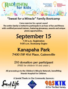 Sweat for a Miracle Family Bootcamp