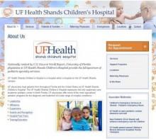 Homepage of new website.